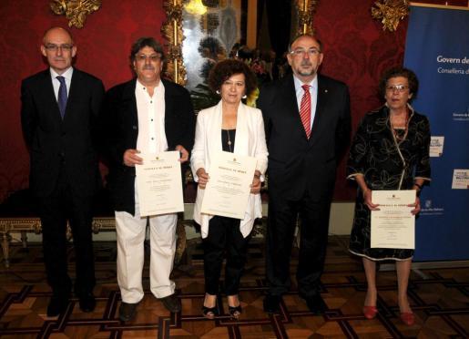 Pere Llobell, Pere Polo, Aina Rado, Bartomeu Llinàs y Antònia Cantarellas.