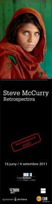Cartel de la muestra retrospectiva de la obra de Steva McCurry en Palma.