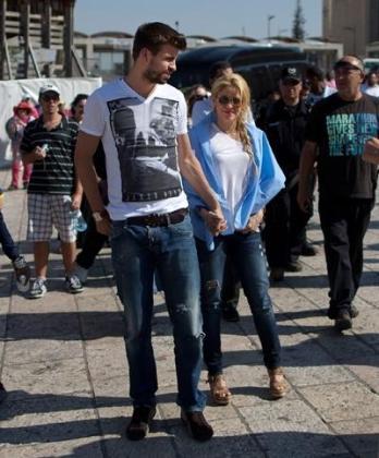Gerard Piqué y Shakira, paseando por Jerusalén