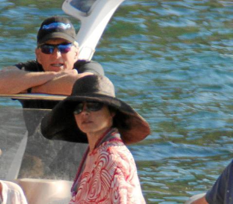 Michael Douglas y Catherine Zeta Jones, en Mallorca.