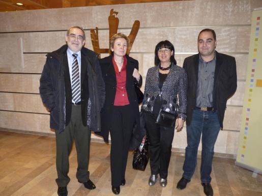 Alejandro Mir, Pilar Sarrablo, María de los Àngeles Llanas y Miguel Carretero.