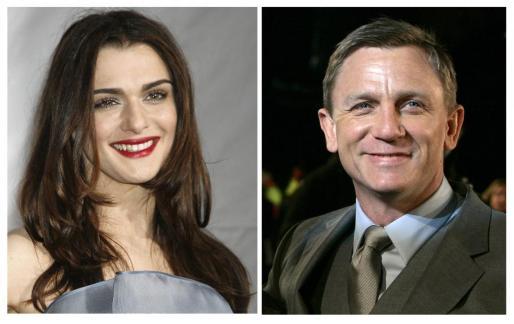 Combo de fotografías de los actores Rachel Weisz y Daniel Craig, que han contraído matrimonio en Nueva York.