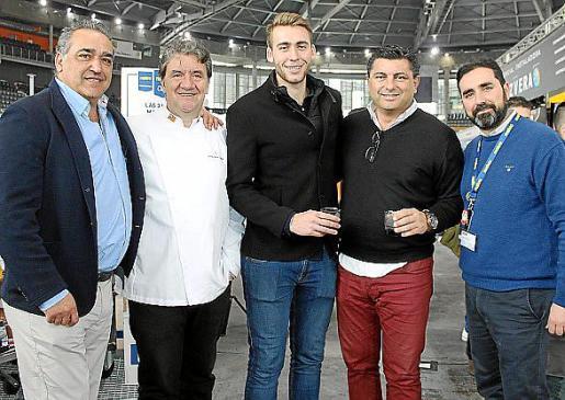 Alfonso Robledo –Asociación Restauración–, Koldo Royo –ASCAIB–, Miguel Ángel Oliver, Alberto Hernández y José Antonio Rodado.