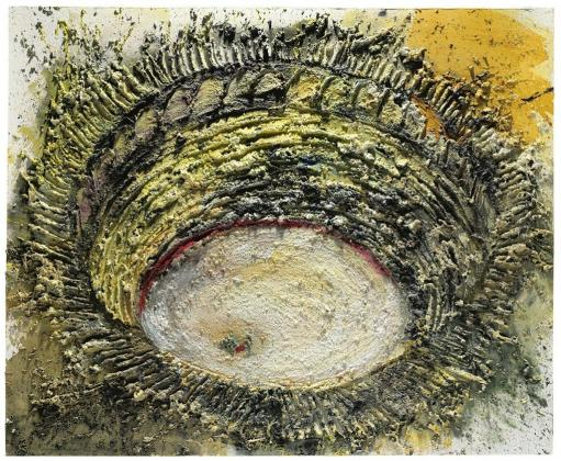 """Foto facilitada por Christie's de la obra de Miguel Barceló """"Faena de muleta"""", el ejemplo más importante de la serie del pintor mallorquín sobre el mundo de los toros, que se subastó ayer en Londres por 4,4 millones de euros, muy por encima del anterior récord del artista, marcado en febrero con la obra """"Tres equis""""."""