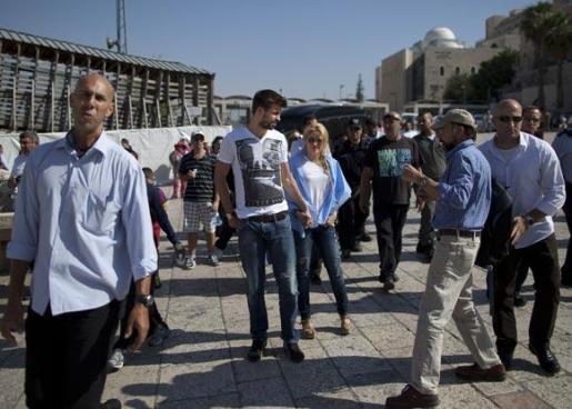 Gerard Piqué junto a Shakira en su viaje a Jerusalén.