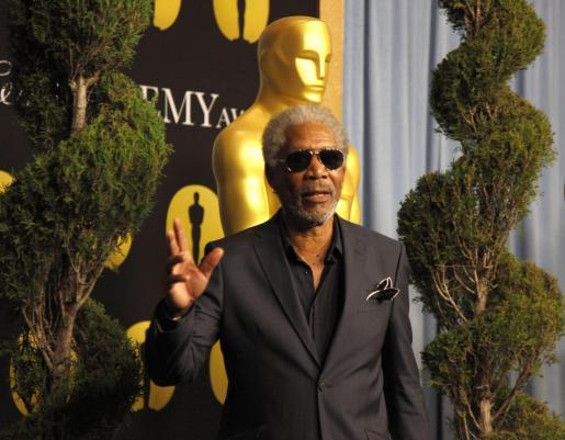 """Morgan Freeman, que podría hacerse con una estatuilla por su papel en """"Invictus""""."""