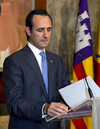 José Ramón Bauzá, durante el acto de toma de posesión de los nuevos consellers del Govern.