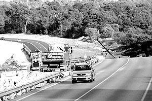 La carretera se cortará a la altura de las cuestas de Xorrigo, a partir del próximo lunes. Foto: JOAN TORRES