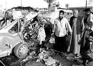 Dos coches bomba hicieron explosión en el centro de Bagdad.