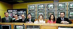 Las principales autoridades de Balears, en la sede del nuevo canal autonómico. Foto: JAUME MOREY
