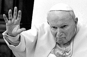 Juan Pablo II, el pasado 23 de febrero, en una de sus últimas apariciones públicas.