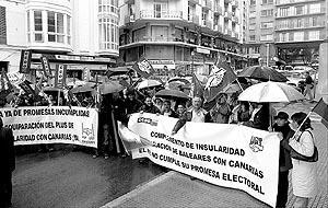 La reivindicación de que el plus de insularidad de Balears sea equiparado con el de Canarias ha provocado numerosas concentraciones