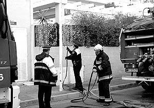 Los equipos de emergencia acudieron sin demora al hotel de Santa Ponça. Foto: MICHELS