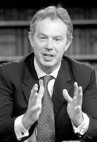 Blair intenta tranquilizar a la opinión pública británica.