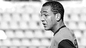 Emilio Nsué, durante un partido de la presente temporada con el Mallorca de División de Honor juvenil.Foto: JAUME MOREY