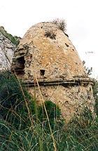 Imagen del horno en el que los torreros calentaban las balas