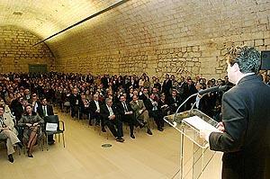 El president, ante cientos de invitados presentes en el Aljub, elogió el trabajo hecho en el museo. Foto: JOAN TORRES