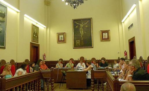 Pleno del Ajuntament d'Alcúdia.