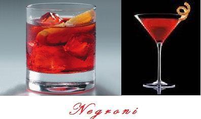 El cóctel Negroni en sus dos presentaciones, Man & Lady.