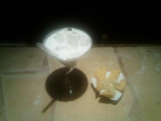 El cóctel Margarita con espuma de limón.