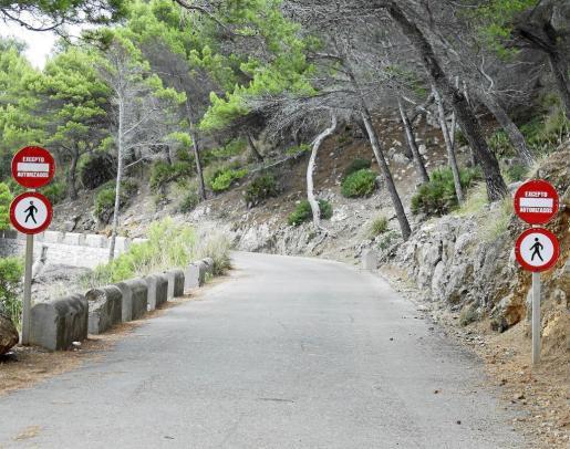 La carretera de acceso al Cap de Pinar prohíbe a día de hoy el paso de los ciudadanos.