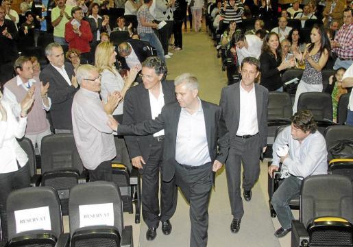 Melià y otros candidatos de CxI en un acto de la pasada campaña electoral.