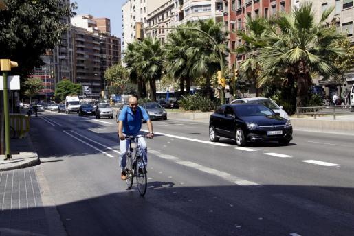 Imagen de archivo de un tramo del carril bici de Avenidas.