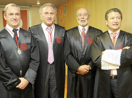 Rafael Gil, Francesc Riera, Pedro Monjo y Joan Font.