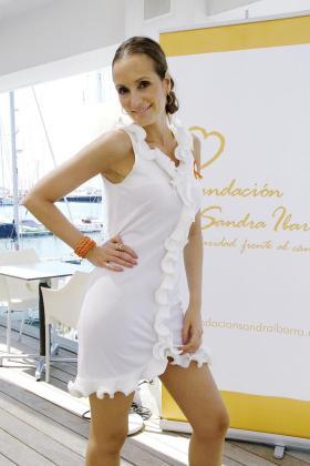 Sandra Ibarra, en Palma durante la presentación de la cena de gala, que finalmente no se celebrará.