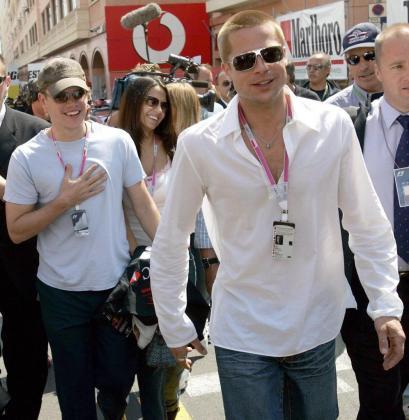 Matt Damon y Brad Pitt, en una imagen de archivo durante una visita a Montecarlo.