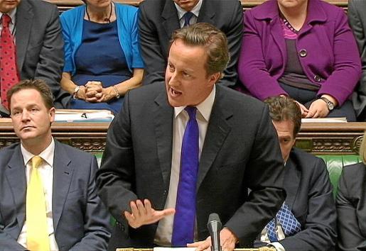 El primer ministro británico, David Cameron, durante su comparecencia voluntaria en el Parlamento.