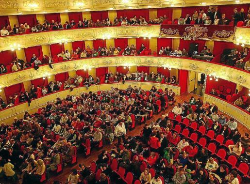 Vista general de la Sala Gran de Principal, durante el concierto de reapertura en 2007.