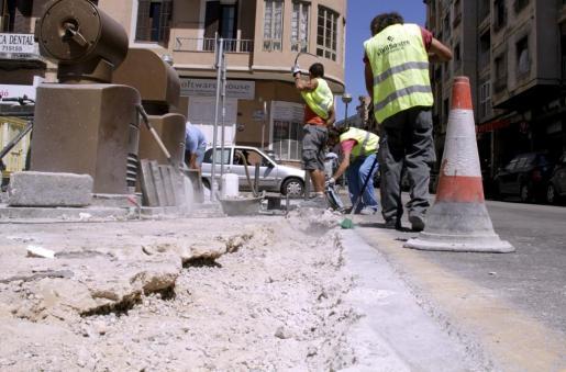 Esta mañana se han iniciado las obras del nuevo carril bici.