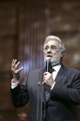 El tenor español, Plácido Domingo.