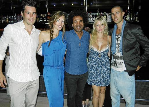 Carlos Montalva, Xisca Rabassa, el diseñador Fidji, Nereida Anglada y Jaume Bestard.