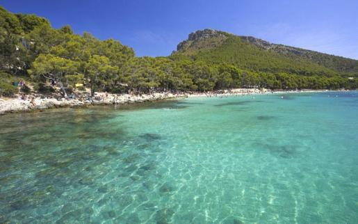 La playa de Formentor está situada en el cabo del mismo nombre, en el extremo noreste de Mallorca, en un enclave de gran belleza paisajística.