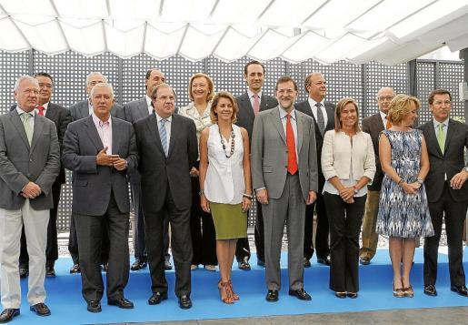 Rajoy se reunió ayer con los presidentes regionales del partido, entre ellos José Ramón Bauzá.