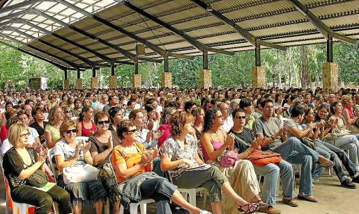 Imagen de archivo de un encuentro en Lluc de profesores de centros religiosos.