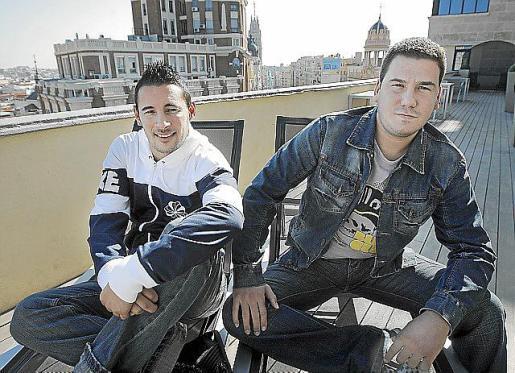 Imagen promocional del dúo artístico Andy & Lucas, que actúa mañana en Palma.