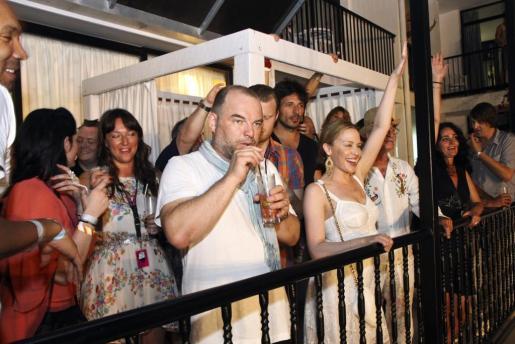 La cantante australiana Kylie Minogue se lo pasó en grande en un concierto en Ibiza.