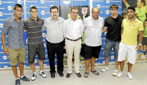 Lemine, Rubén, Miquel Jaume, Sergio Bertrán, 'Pato', Basile y Javi Rodríguez.