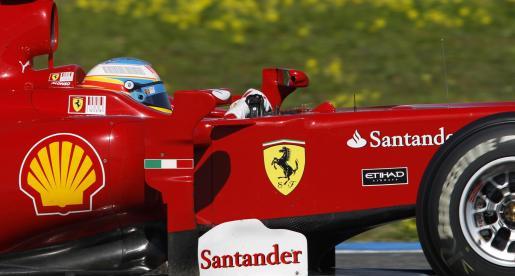 El Ferrari de Alonso ha marcado el segundo mejor tiempo de la prueba.