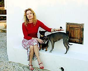 Diandra atendió a <b>Última Hora</b> en su casa de Valldemossa, donde ha pasado 22 días.