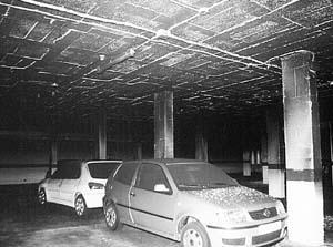Numerosos coches resultaron afectados y uno quedó destruido.  Foto: MICHELS