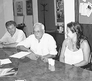 Los ediles del PSOE y Francina Armengol estuvieron en la reunión del viernes. Foto: M.F.
