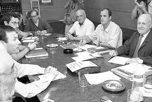 Xabier Arzalluz presidió la reunión del EBB.