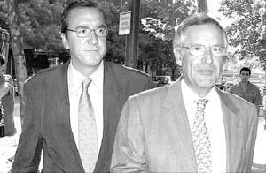 Miguel Bajo y José Lozano, abogados del propietario de Gescartera.