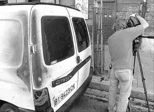 Imagen del lugar donde un grupo de violentos atacó a dos agentes de la Ertzaintza.
