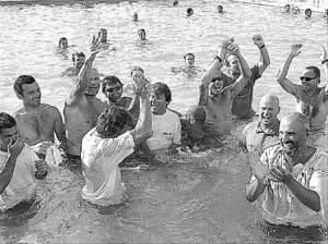 El baño de los campeones. Foto: PERE BOTA
