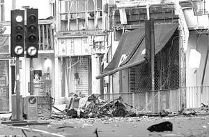 El ataque con coche bomba causó heridas a siete personas.